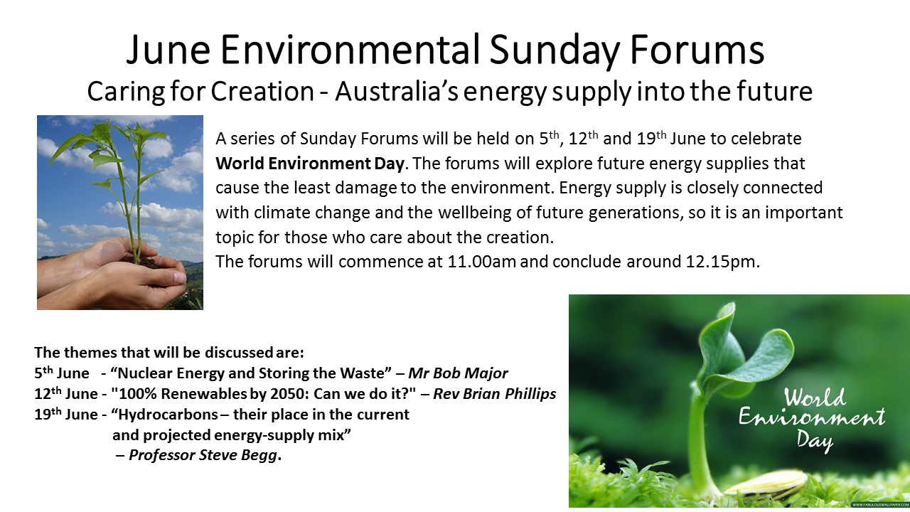June Environmental Sunday Forums